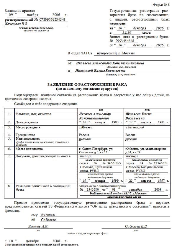 развод через загс в ленинском районе Лис
